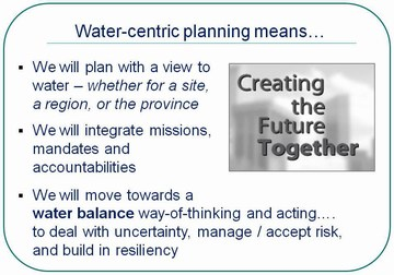 Water-centric planning means