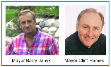 Mayors barry janyk and clint hames
