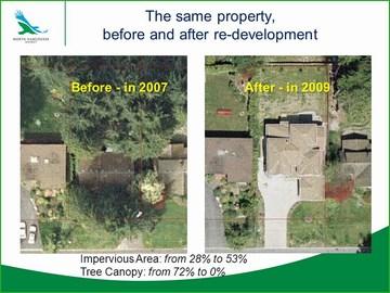 North van - redevelopment comparison