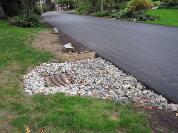 Cherbourg drive in west vancouver - drainage feature