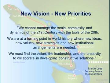 New vision - new priorities