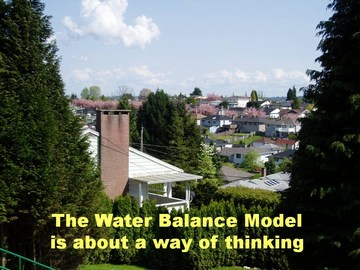 Water balance model is about a way of thinking
