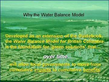 Why the water balance model