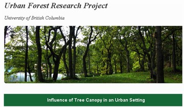 Urban forest research project - webpage