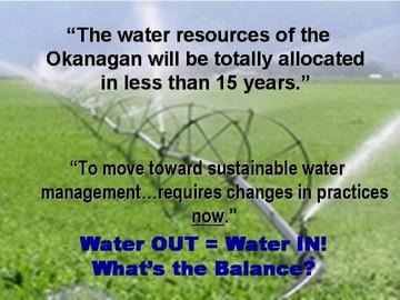 Okanagan  water out =