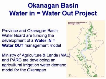 Okanagan basin water in =