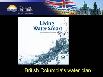 Living water smart - bcs water plan