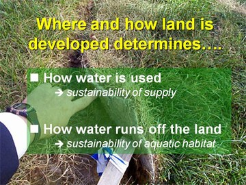Water sustainability - where and how land is developed