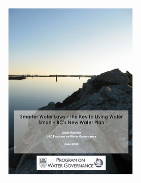 cover-Smarter water laws - by linda nowlan - june 2008