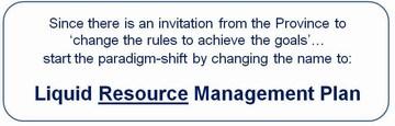 Metro van - liquid resource management plan