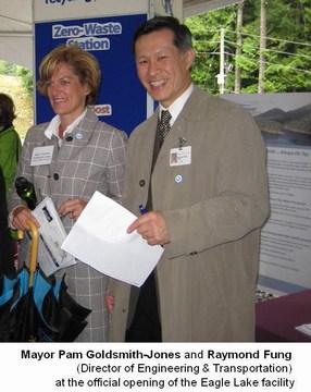 Eagle lake commissioning - mayor pam & ray fung