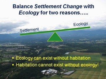 Settlement change in balance with ecology - dec 2009