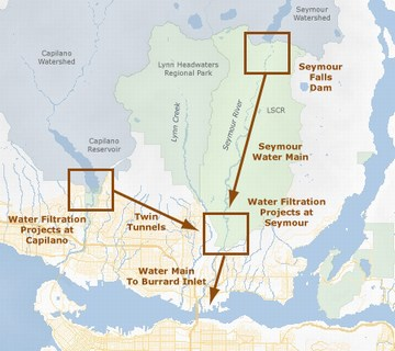 Metro van - seymour capilano filtration projects - layout