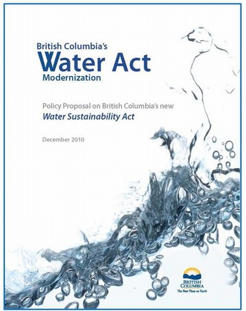 Policy proposal for water sustainability act (475p)