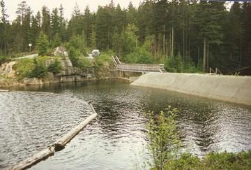 Eagle lake outlet dam