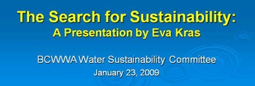 Eva kras - the search for sustainability