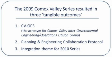 Comox valley - 2009 learning lunch series - tangible outcomes