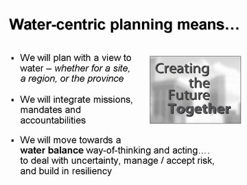 Water-Centric planning, april; 2007